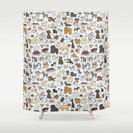 Doggy Doodle Shower Curtain