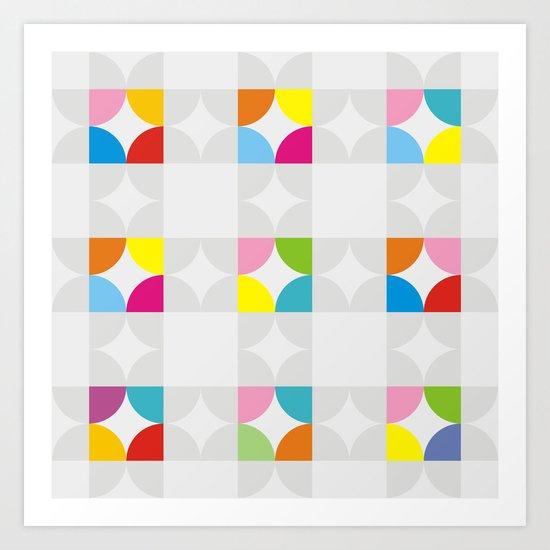 Pattern GMTRC-P1 Art Print