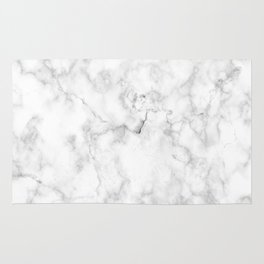 Marble pattern on white background Rug