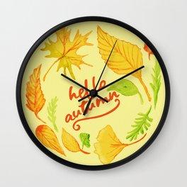 hello autumn Wall Clock