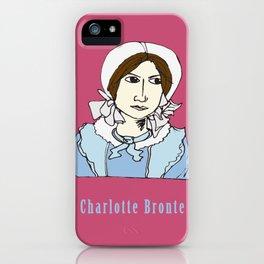 Charlotte Bronte - hand-drawn portrait iPhone Case