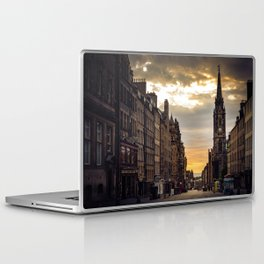 Royal Mile Sunrise in Edinburgh, Scotland Laptop & iPad Skin