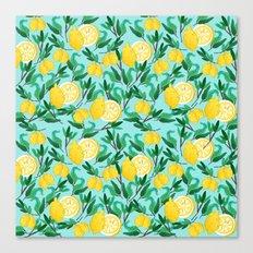 Lemon Fresh Pattern Canvas Print