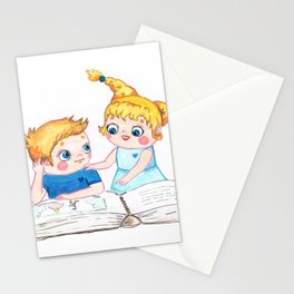 Book readers Stationery Cards