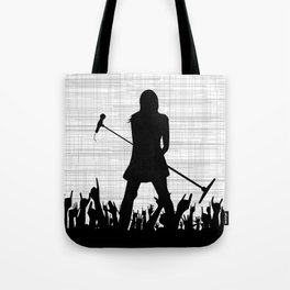 Girl With Microphone Tote Bag