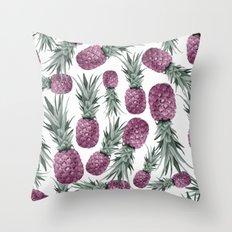 Purple Pineapples Throw Pillow