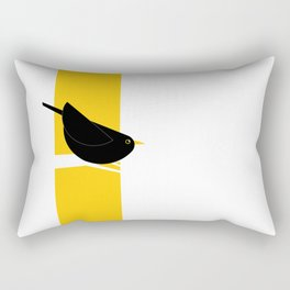 Turdus Merula 03 Rectangular Pillow