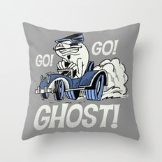 Go! Go! Ghost! Throw Pillow