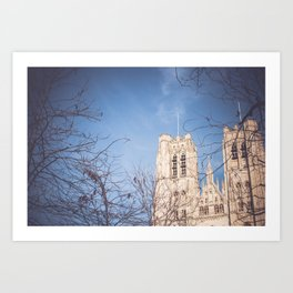 Brussels Cathedral Art Print