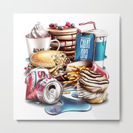 Cheat Day Metal Print