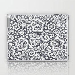 White Lace. Seamless Pattern. Laptop & iPad Skin