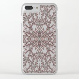 Snowflake Red Clear iPhone Case