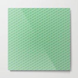 Green Honeycomb Metal Print
