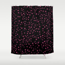 Abstract purple flower 05 Shower Curtain