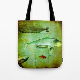 Hostile environment for a goldfish Tote Bag