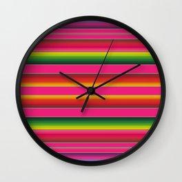 Zarape Pink Wall Clock