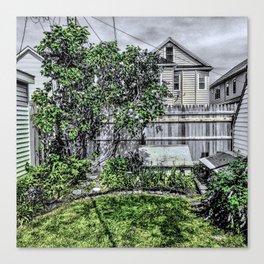 Virgil Avenue Yard Canvas Print