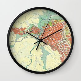 Ronda city map classic Wall Clock
