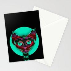 Black CAT- Black Stationery Cards