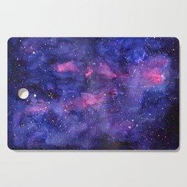 Galaxy Pattern Watercolor Cutting Board