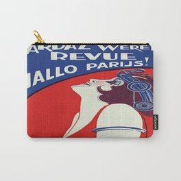 Vintage poster - Yardaz Wereld Revue Carry-All Pouch