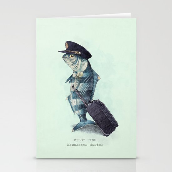 The Pilot (colour option) Stationery Cards