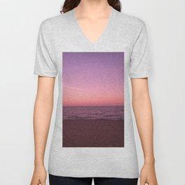 Sunset in Camini Unisex V-Neck