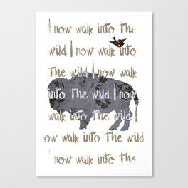 Walk into the Wild Canvas Print