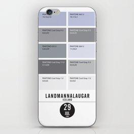 PANTONE glossary - Iceland - Landmannalaugar-Hrafntinnusker iPhone Skin