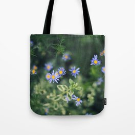 Blue and Yellow Flowers Tote Bag