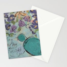 One blue bird Stationery Cards