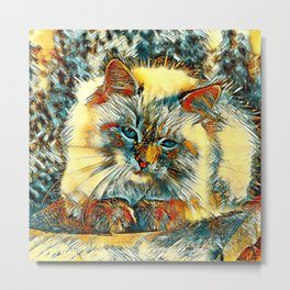 AnimalArt_Cat_20170907_by_JAMColorsSpecial Metal Print