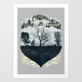 Ever Higher And More Remote Art Print