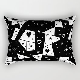 Black and White Popart by Nico Bielow Rectangular Pillow