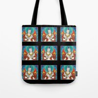 buddhism Tote Bags featuring Buddhism by Panda Cool