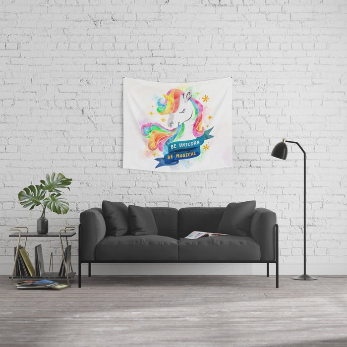 Be Unicorn Wall Tapestry