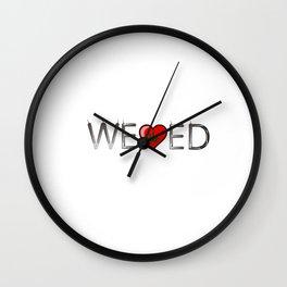 We Heart Weed Love Wall Clock