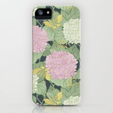 Hydrangeas and Butterflies - Such A Perfect Summer Day iPhone (5, 5s) Slim Case