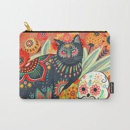 Dia De Los Muertos Cat Carry-All Pouch