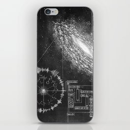 Galaxy and the structure of music! iPhone Skin