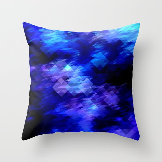 Anemone Wave Pixel Throw Pillow