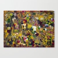 gustav klimt Canvas Prints featuring Fantasy about Gustav Klimt by Lucid Infinity Art and Design