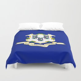State Flag of Connecticut Duvet Cover