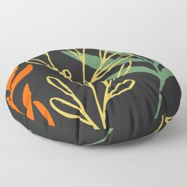 A FLORAL SOIREE Floor Pillow