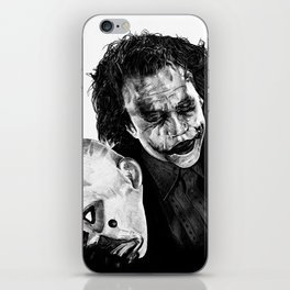 Heath's Joker - Movie Inspired Art iPhone Skin