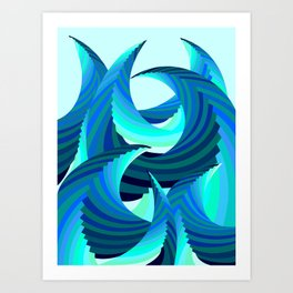 Grafidoodle Waves I Art Print
