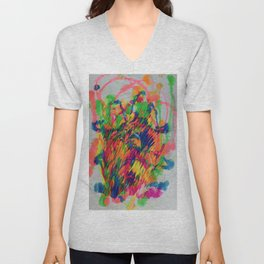 Color Richness Acrylic Unisex V-Neck