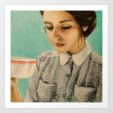 It Was Over Her Second Cup of Coffee That Josephine Decided To Give Herself the Day Off Art Print
