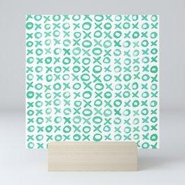 Xoxo valentine's day - aqua Mini Art Print