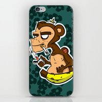 monkey island iPhone & iPod Skins featuring Groovy Monkey by Groovy Gangster